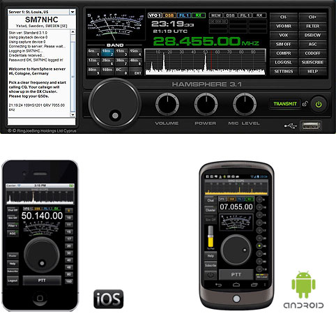 Ham Radio for your PC and Smartphone - HamSphere®
